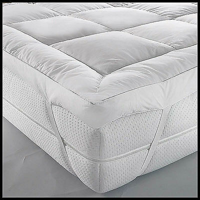 Premium Quality Luxury Duck Feathers And Down Mattress Topper/Protector+Free P&P