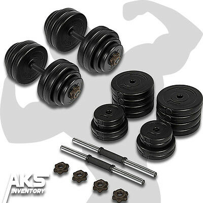 64lb Dumbells Free Weights Home Gym Fitness Equipment Adjustable Weight Set New