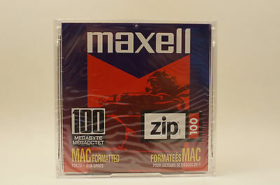 Maxell Zip 100 MAC Formatted Brand New Old Stock
