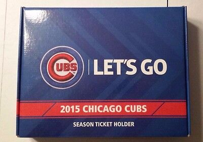 "2015 Mlb Chicago Cubs  Season Ticket Holder Box ""Lets Go"""