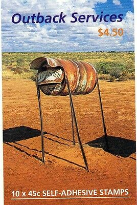 2001 AUSTRALIAN STAMP BOOKLET OUTBACK SERVICES 10 x 45c STAMPS MUH