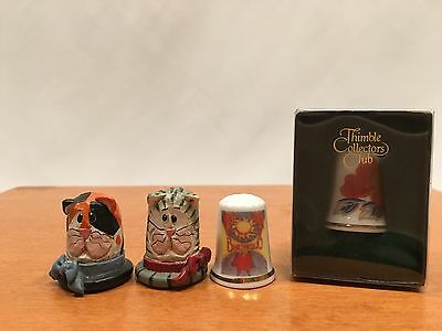 Lot of 4 Thimbles Eddie Walker Gimbel and Sons Matsumine