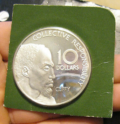 Guyana - 1977 Large Proof Silver $10.00 Coin