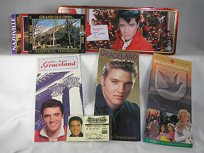 Elvis Presley Russel Stover Candy Tin with Grand Ole Opry Graceland Dolly