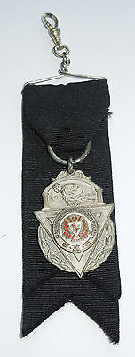 1912 Extremely Rare Antique Clan MacLeod Masonic STERLING SILVER Engraved Medal