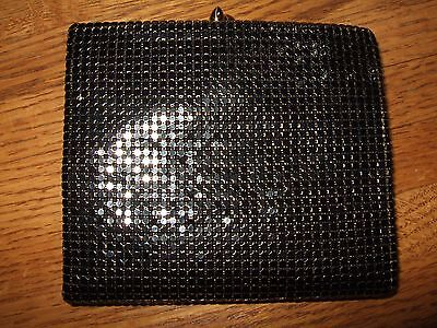 vintage new old stock duramesh black glitz wallet USA 1950s 60s excellent