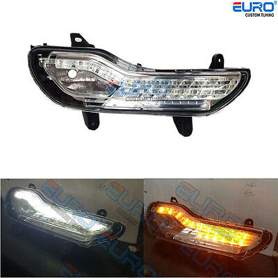 Switchback Side Parking Fog LED Turn Signal Lamp DRL Light for 13-16 Ford Escape