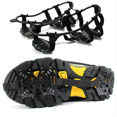 Pair Snow Shoes Gripper Non-Slip Spikes Climbing Grip Crampon Walk Cleat