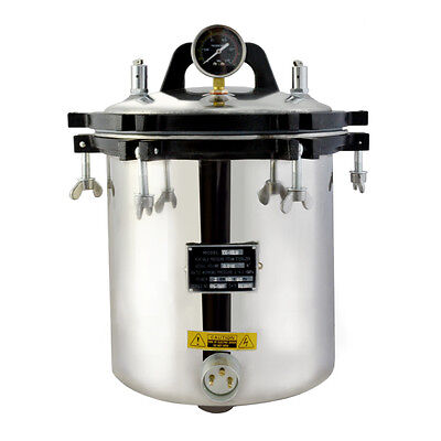 18L Steam Autoclave Sterilizer Sterilization Tattoo Dental Lab Equipment 110V