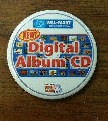 Wal-Mart photo digital album cd button pin pinback photo center promotional