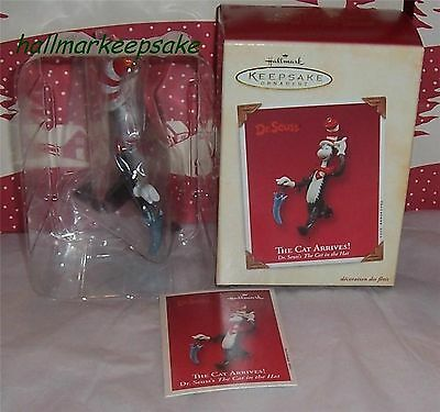 2003 Hallmark Keepsake Ornament Dr. Seuss The Cat Arrives The Cat In The Hat