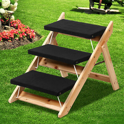 Portable Folding Steps Dog Cat Doggy Pet Stairs Ramp Ladder Pup Travel