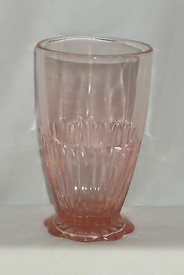 """Anchor Hocking LACE EDGE/OLD COLONY PINK *5"""" FOOTED TUMBLER*"""
