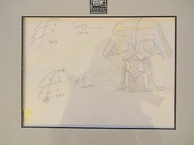 Family Guy Star Wars Original Production Animation Art w/ COA Stewie Darth Vader