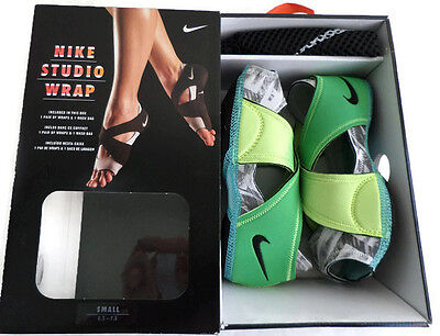 Nike Studio Wrap Shoes Yoga Barre Dance Defused Jade Women's Size 5-6 Slippers