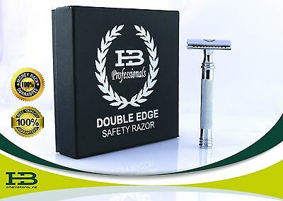 Double Edge Safety Razor Shaving Traditional Razor +20 Blades + Long Handle