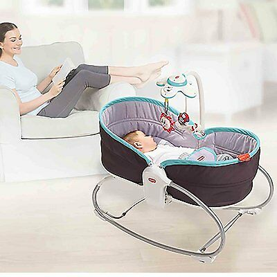 Portable Travel Baby Bed Rocker 3 In 1 Convertible Chair Bassinet Infant Mobile
