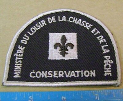 QUEBEC  NATURAL RESOURCES PATCH,BADGE,FLASH hunting,fishing,enforcement,police