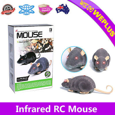 Realistic RC Mouse Remote Control 2CH Infrared Kids Adults Prank Toys Best Gifts