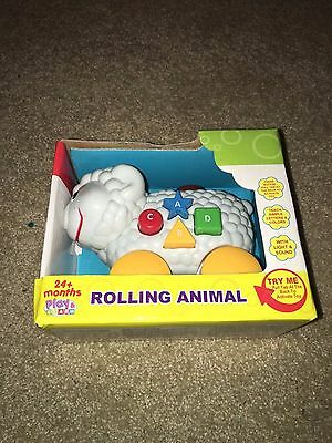 Rolling Animal Toy Children Baby Infant Learning Game Sheep Play and Learn White