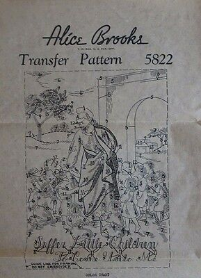 Vintage ALICE BROOKS Sewing Transfer Pattern 5822 Religious Panel Mail Order