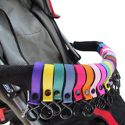 Colorful Baby Stroller Pram Pushchair Hanger Hanging Strap Portable New