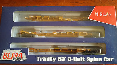 Blma 3-Pack Trinity 53' Spine Cars #12255 As New Excellent Boxed N Gauge (Lot 4)