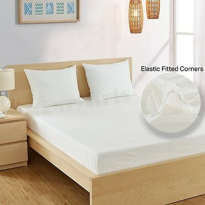 Heavy Weight Fitted Mattress Protector Waterproof Boil-Able Vinyl Bed cover