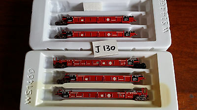 Walthers Thrall 5-Car Double Stack Unit Santa Fe Very Good Boxed N Gauge (J130)