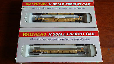 Walthers Double Stack Unit 3-Piece X 2 Packs!! Ttx Very Good Boxed N Gauge (J36)