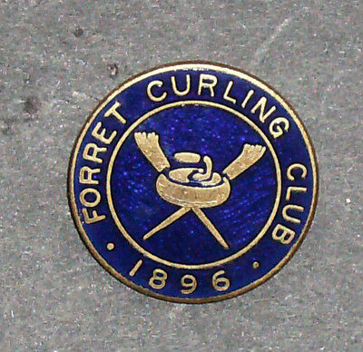 Forret Curling Club 1896 Pin - Scotland Curling Club