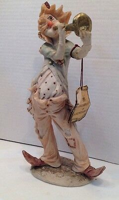Pucci Arnart Art Sculptures Figurine Collectors Edition Clown Blowing A Bugle