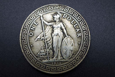 Collection early Chinese (Tibet silver) Hong Kong make one dollar COINS 1911