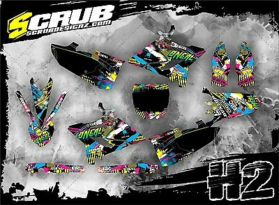 SCRUB Yamaha graphics decals kit YZ 125-250 2015-2017 stickers FORCE '15-'17