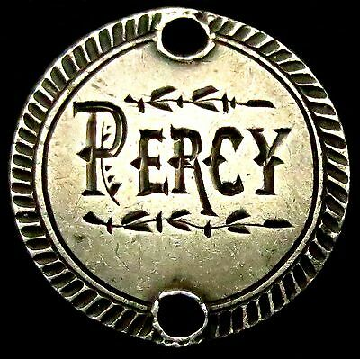 "S436: Queen Victoria Jubilee Silver 3d - Love Token - hand engraved ""PERCY"""