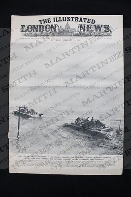 WWII The Illustrated London News 1945 - The ruins of Cleve, Dresden Bombed