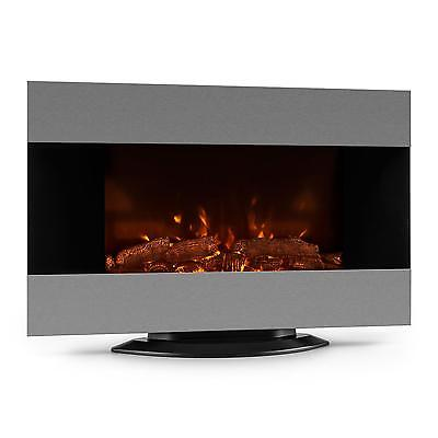 Klarstein Electric Fireplace Standing Wall Mounted 7 Led Colour Fire Heater Home