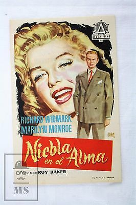 1952 Marilyn Monroe - Don't Bother to Knock - Cinema/ Movie Advertising Leaflet