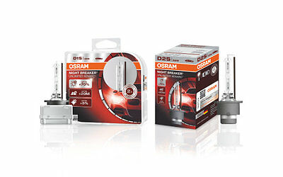 2x OSRAM D1S D2S D3S W5W NIGHT BREAKER UNLIMITED COOL BLUE Xenarc Xenon Brenner