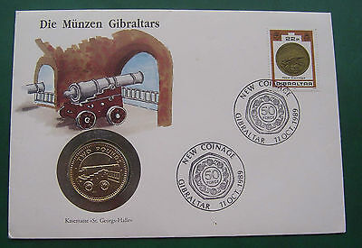 Gibraltar 1990 Cannon in fortress tunnel 2 Pounds Coin Cover