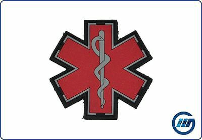 Rubberpatch Rettungsdienst Star of Life rot