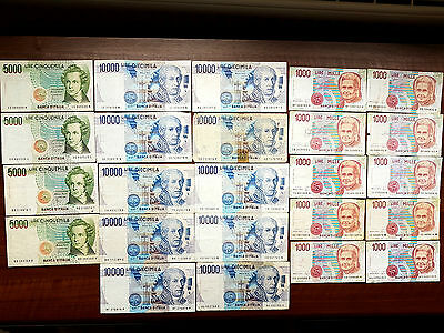 Italy 130000 lire 1984 - 1990 lot banknote