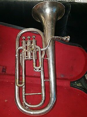 Boosey & hawkes besson silver plate tenor horn westminster 1960 serial 313432 Hp