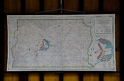 vintage wall chart from 1958 blueprint of Brasilia  e5140