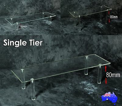 Acrylic Display Stand Single Tier: Collectable: Shoe Stand; Figurines