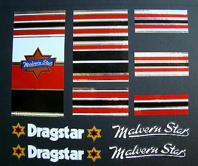 Malvern Star Bicycle Dragster Bike Set Stickers Decals Cycle BMX
