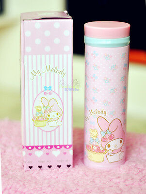 New Cute My Melody Stainless Steel Vacuum Warm Travel Mug Tea Cup 400ml PINK
