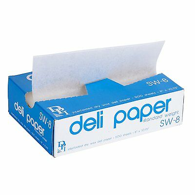 "500 Bakery Wax Pick-up Tissue Paper 8"" X 10-3/4"" - White"