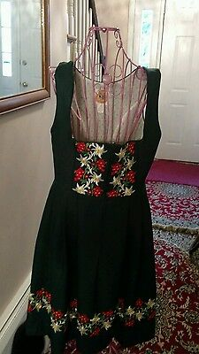Dirndl dress-Licht Trachtenhaus -VTG Hunter green size 14
