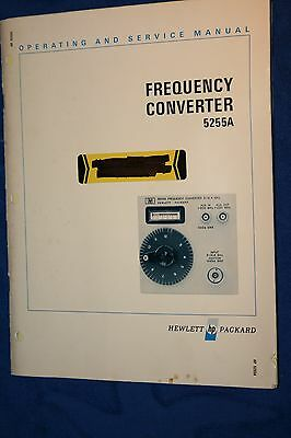 Hp 5255A Frequency Converter Operating & Service Manual With Schematics